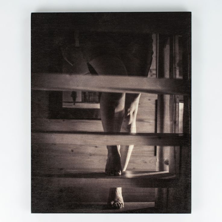 Stairs - author's photo – UV print on plywood.