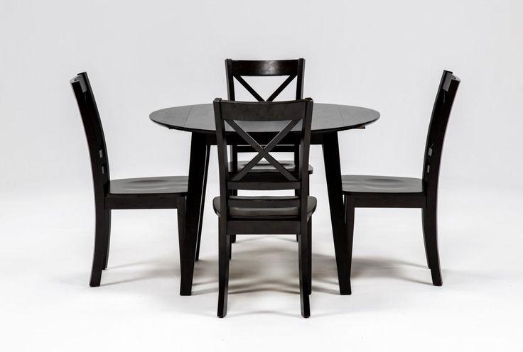 Roxy Espresso 5 Piece Round Dining Set - 360