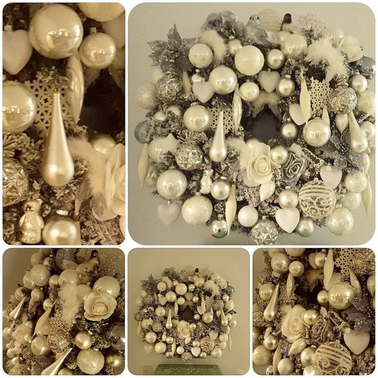 My White Christmas Wreath