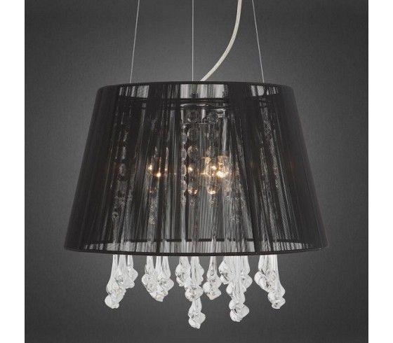 h ngeleuchte der schwarze durchscheinende lampenschirm und die wunderbar funkelnden. Black Bedroom Furniture Sets. Home Design Ideas