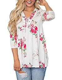 New CINDY LOVER Women's Floral Print 3/4 Sleeve Boho Top With Twisted Knit Front T-Shirts online. Find the perfect Zeagoo Tops-Tees from top store. Sku LZBA26638ACMF18252