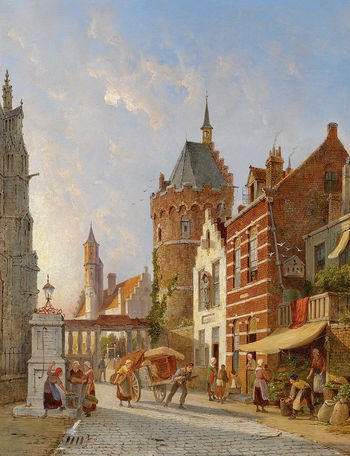 Pieter Cornelis Dommersen (1834-1908): Utrecht, Holland, 1892