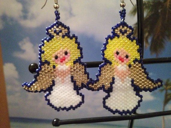Hey, I found this really awesome Etsy listing at https://www.etsy.com/listing/87075111/beaded-christmas-angel-earrings