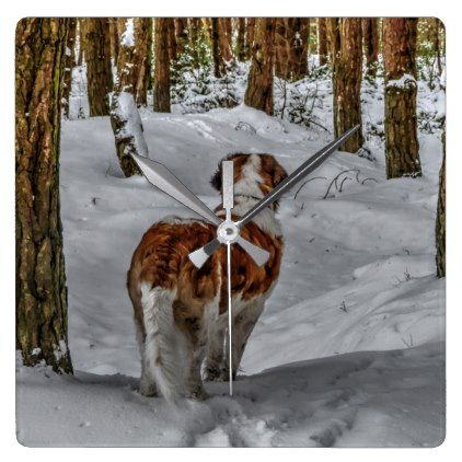 #Saint Bernard  dog clock - #Xmas #ChristmasEve Christmas Eve #Christmas #merry #xmas #family #holy #kids #gifts #holidays #Santa
