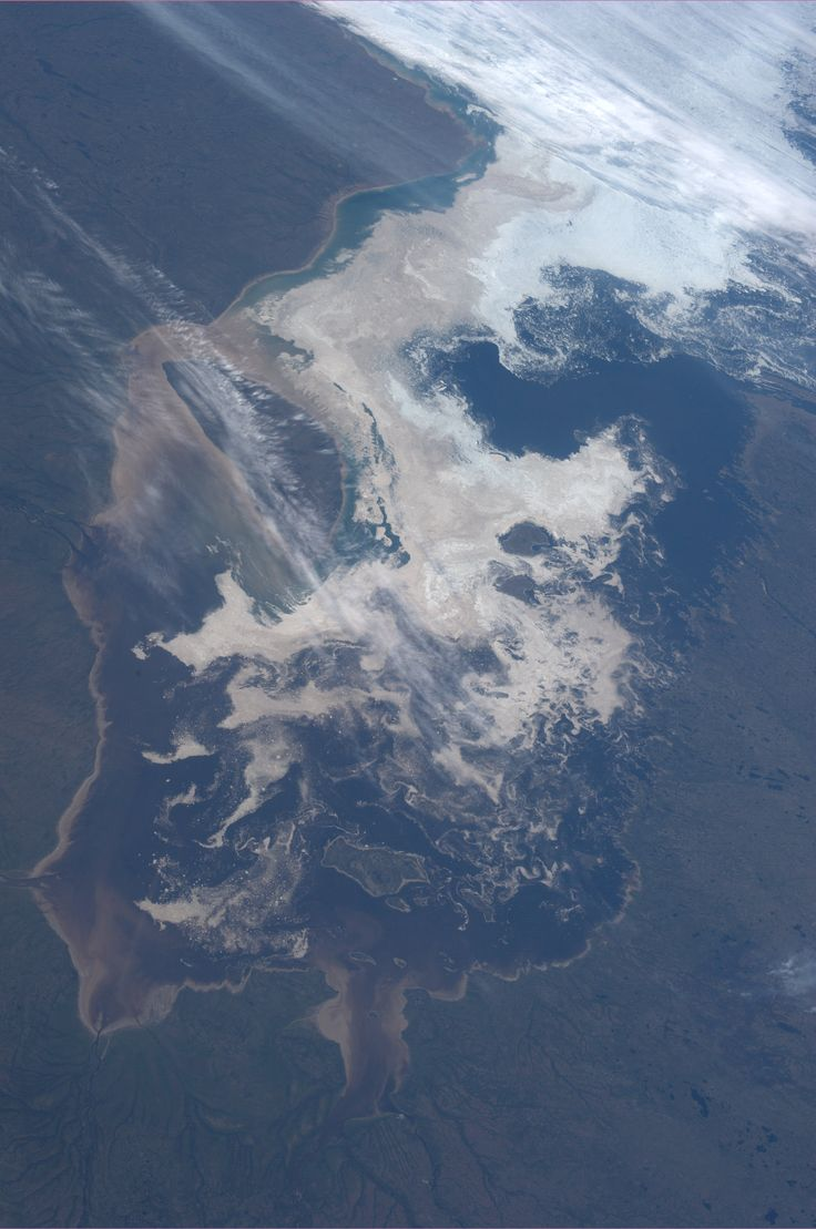 James Bay, off the Hudson Bay in Canada.  KN from space.