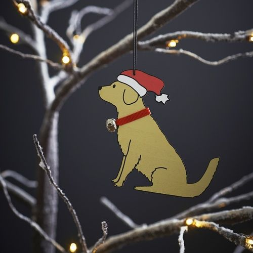 Golden Retriever xmas decoration £7.50 at www.twowoofs.co.uk