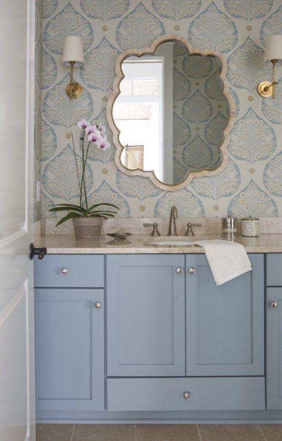 blending in a bathroom design story - Designer Wallpaper For Bathrooms