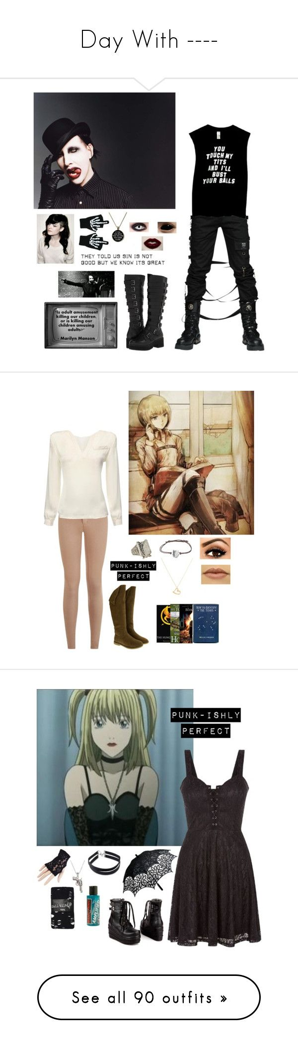 """""""Day With ----"""" by punkishly-perfect-in-every-way ❤ liked on Polyvore featuring Shellys, Keddo, Hot Topic, Argento Vivo, Misa, JY Shoes, Forever 21, La Preciosa, Manic Panic NYC and Full Tilt"""