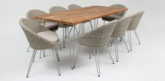 Everglade 200cm dining table + x8 Everglade dining chairs