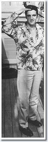 Elvis Presley, November 8, 1957 - Aboard the USS Matsonia bound for Honolulu Hawaii