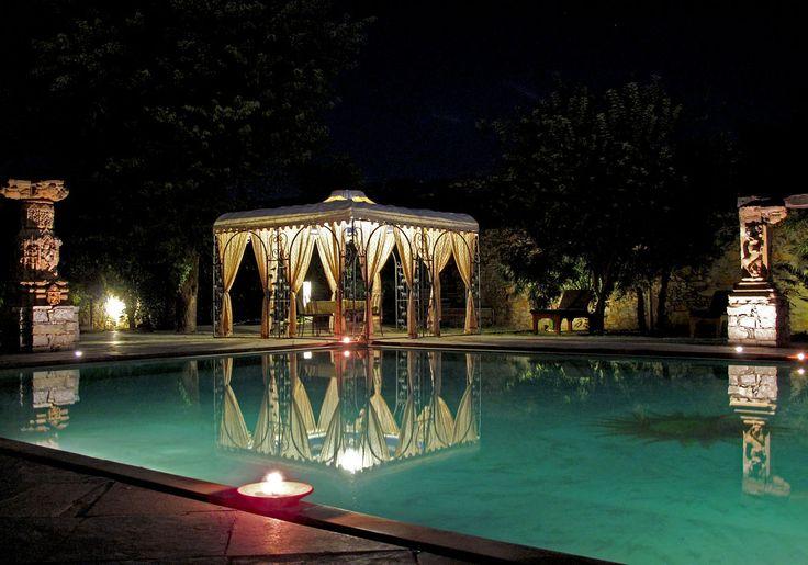 Evening poolside at Castle Bijaipur