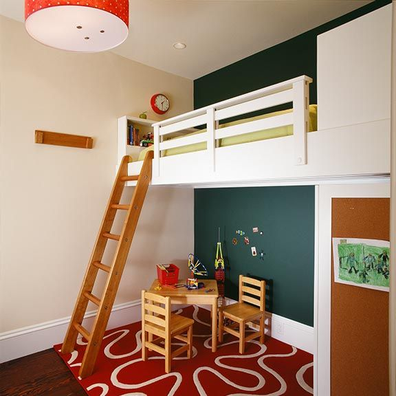 built-in loft bed.