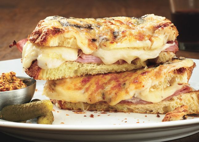 Muffaletta Grilled Cheese: Fun Recipes, Sandwiches, Food, Mushroom Croque Monsieur, Ridiculously Yummy, Savory Recipes, Grilled Cheeses, Favorite Recipes, Mushrooms