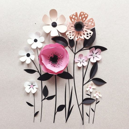 Papercut Poetry by Hanna Nyman, shared on the blog today! http://www.artisticmoods.com/hanna-nyman/