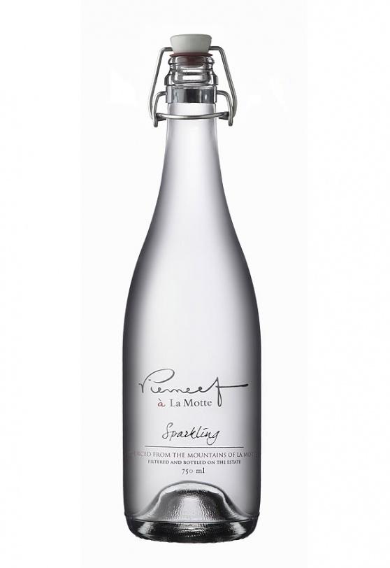 Stylish glass water bottles by La Motte Wine Estate, Franschhoek #SouthAfrica