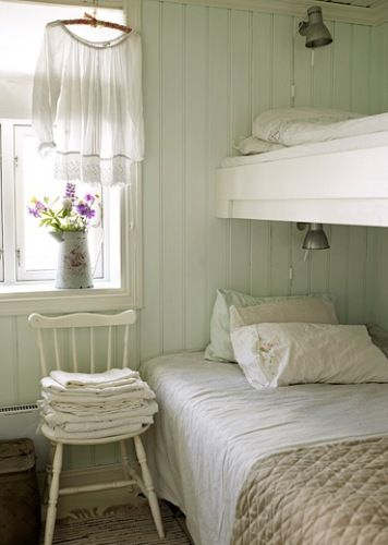 Use an old chair as a bedside table