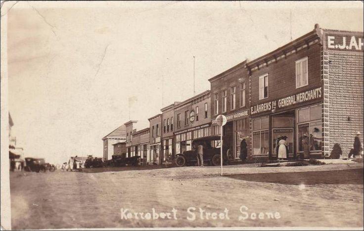 RP: Street (dirt) Scene , Storefronts , KERROBERT , Saskatchewan , Canada , 00-10s Item# SCVIEW242249 (209141969)