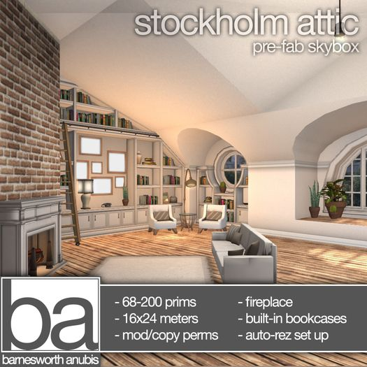 [ba] stockholm attic - skybox and furniture