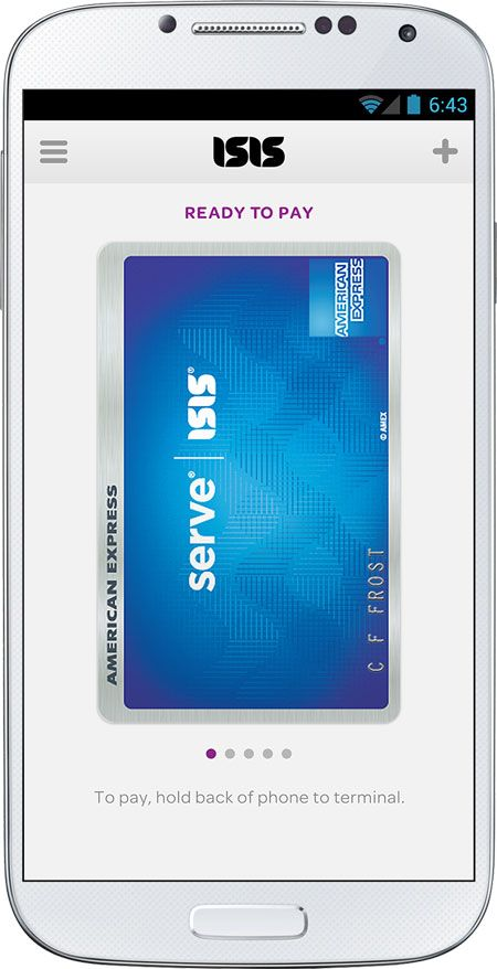 Samsung Galaxy S4 - American Express Serve credit card within the Isis Mobile Wallet app #VZWlife