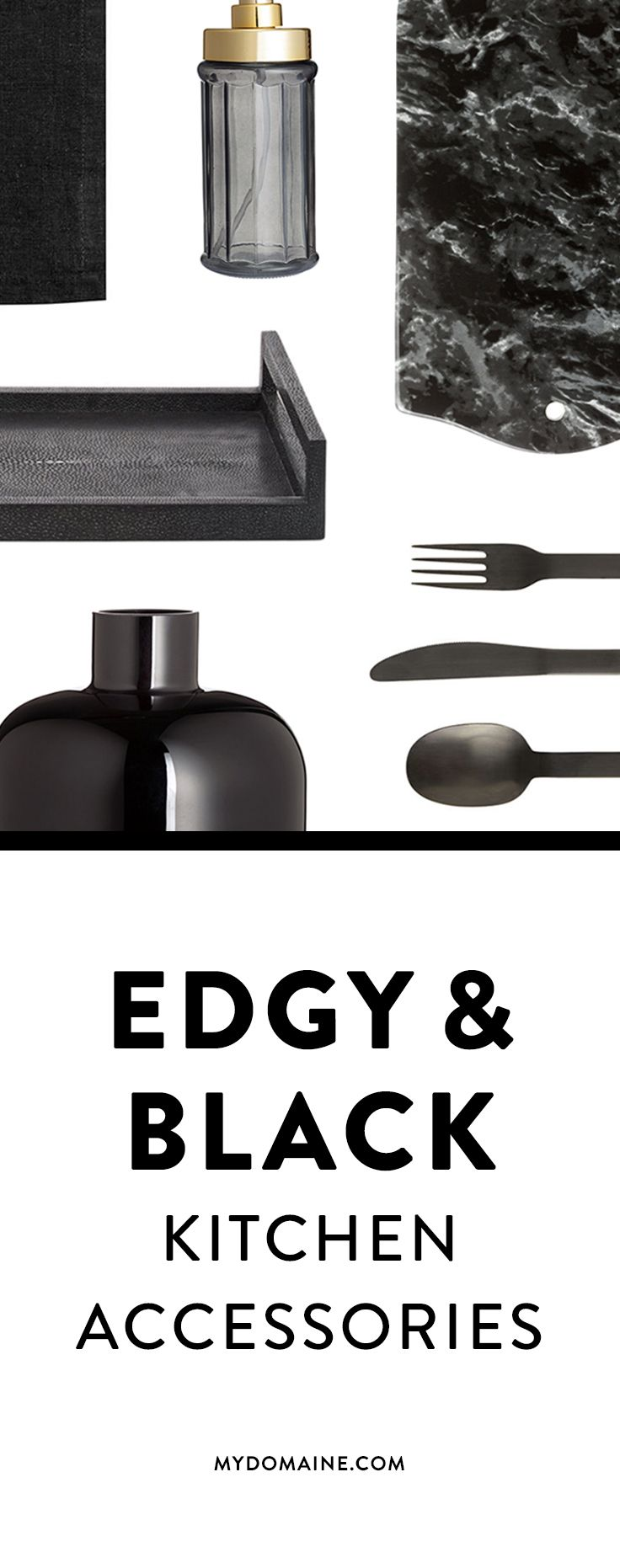 Add some attitude to your home with these black and edgy accessories