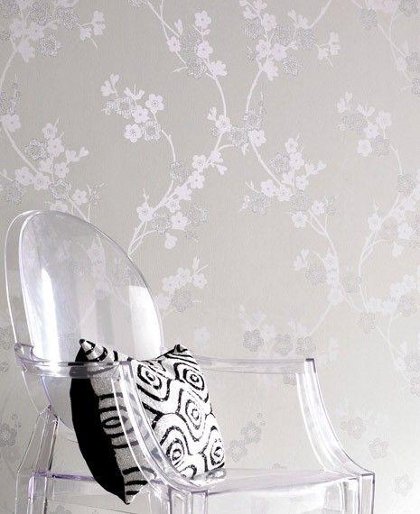 Tapete weiß silber gestreift  8 besten Tapete Bilder auf Pinterest | Punkte, Landhaus und Rezepte