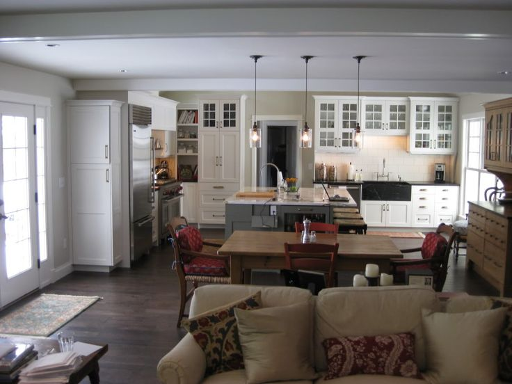 I want everything about this kitchen/family room. 3 rooms converted to 1 large living space. I HEART THIS! click on pic for all detailed photos.