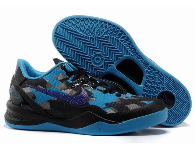 Nike Zoom Kobe 8 ELITE Series Shoes Blue Black $58.70 #Kobe Bryant Basketball Shoes#