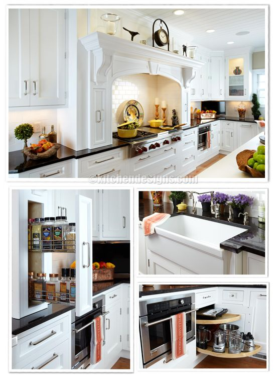 Kitchen Designs By Ken Kelly Hearth In White Kitchen With Spice Pull Out  And Accessories By