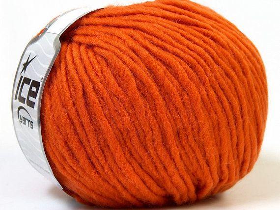 Orange yarn 100 wool Filzy winter knit wool by specialyarnshop, $8.00