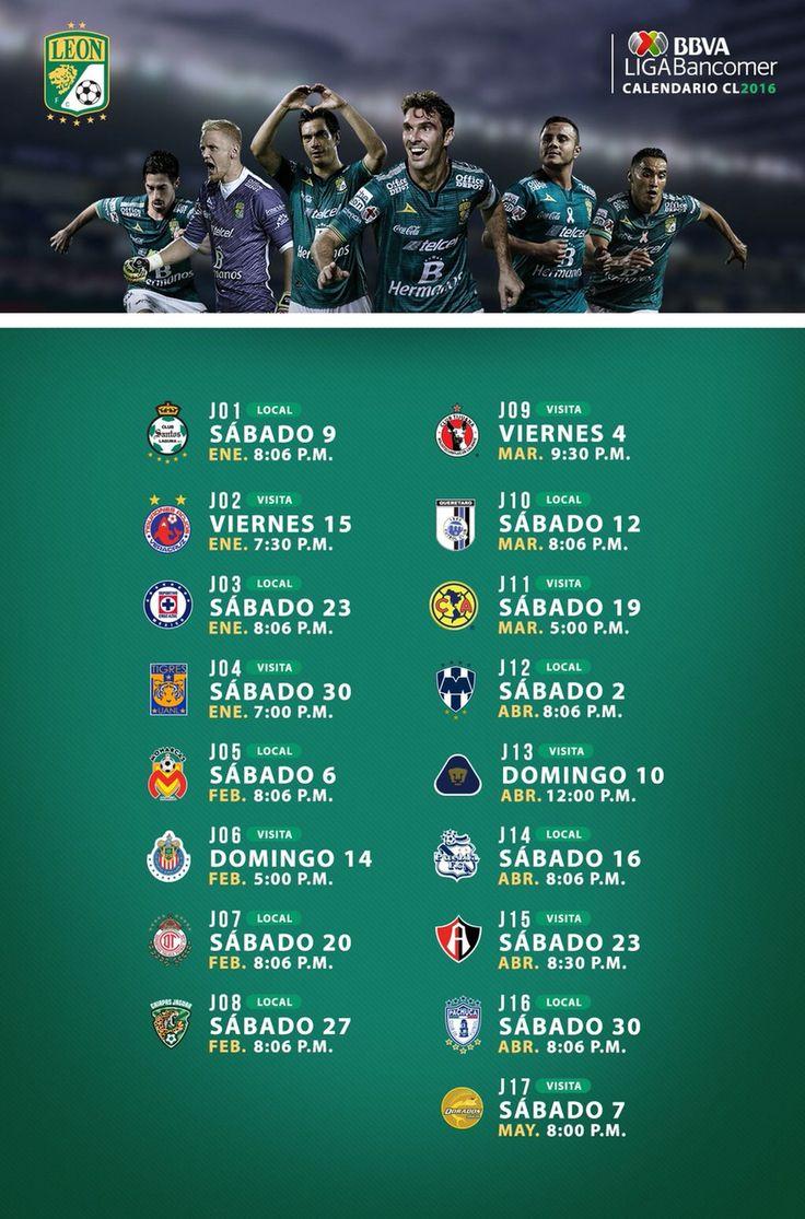 Calendario partidos León Clausura 2016 Liga MX