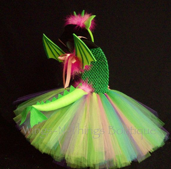 PETE DRAGON COSTUME 4pc Tutu Dress Set w/ by wingsnthings13