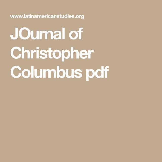Journal Of Christopher Columbus Pdf Ciencias Estudios