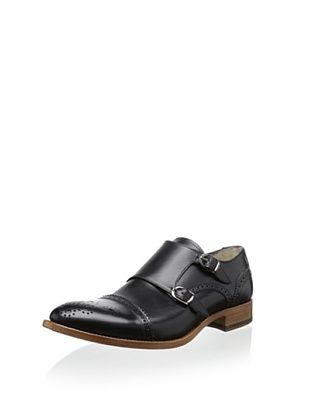 50% OFF Antonio Maurizi Men's Alonso Double Monkstrap (Black)