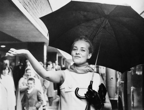 Jeanne Moreau à Londres en 1962