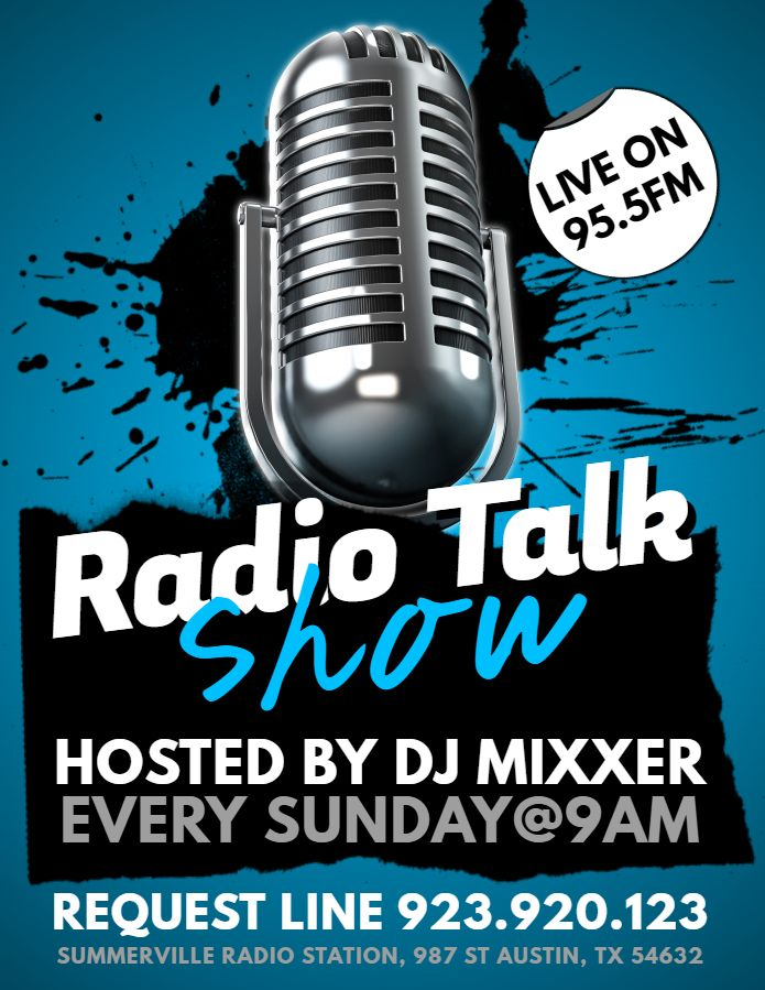 radio talk show advertisement flyer template design event flyer