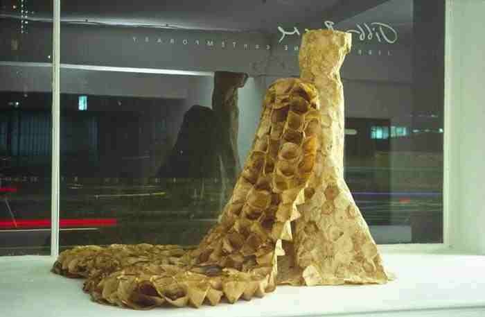 """""""Trayne"""", the coffee filter dress from Susan Stockwell"""