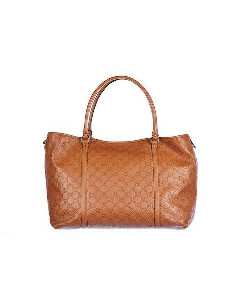 Gucci Handtasche aus geprägtem Leder - cognac Jetzt auf kleidoo.de bestellen!  #kleidoo #fashion #trend #bag #gucci #cognac #leder