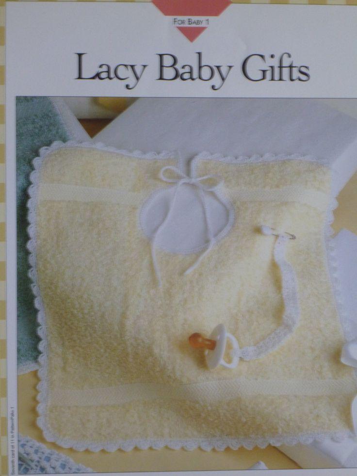 Lacy Baby Gifts pattern to crochet crochet bib, crochet pacifier holder - Vanna's - 782 by CarolsCreations77 on Etsy