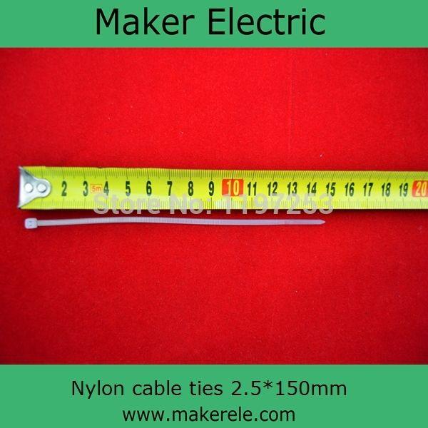 Купить товарCe, ul, ROHS пластиковые кабельные стяжки MKCT 2.5 * 150 мм 100 шт./пакет 100 шт./пакет в категории Кабельные стяжкина AliExpress.  Размер: 2.5 мм * 150 мм  ROHS Нейлон Кабельные стяжки 1. профессиональный производитель 2. UL, CE, ROHS, достичь Сертиф