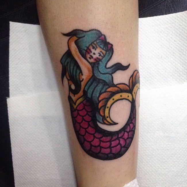 90+ Kreative Little Mermaid Tattoos – Designs & Sinn (2018 #creative #designs #little …   – Mermaid Tattoo – #amp #Creative