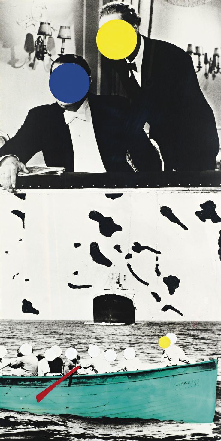 John Baldessari, Boat (Green) with Two Observers, 1991