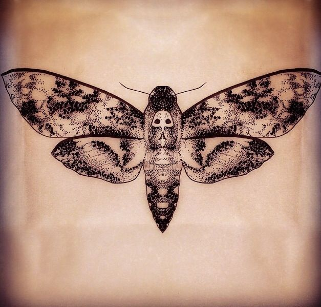 death head moth tattoo tattooing at parliament tattoo london the moth ...
