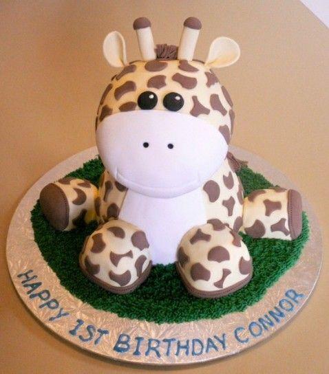 Torta di compleanno a forma di giraffa