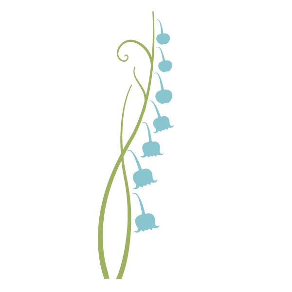 Lily of the Valley Flower Stencil