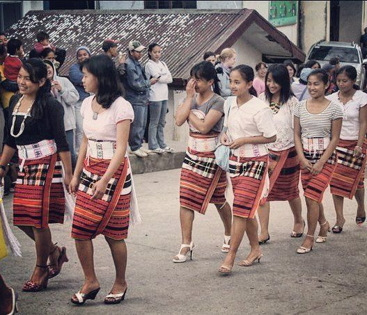 Young #Igorot ladies of #Sagada in their traditional skirt and belt.