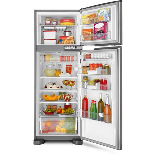 Geladeira / Refrigerador Brastemp Clean Frost Free BRM39 Inox 352 Litros, por apenas R$1799: Cleanses