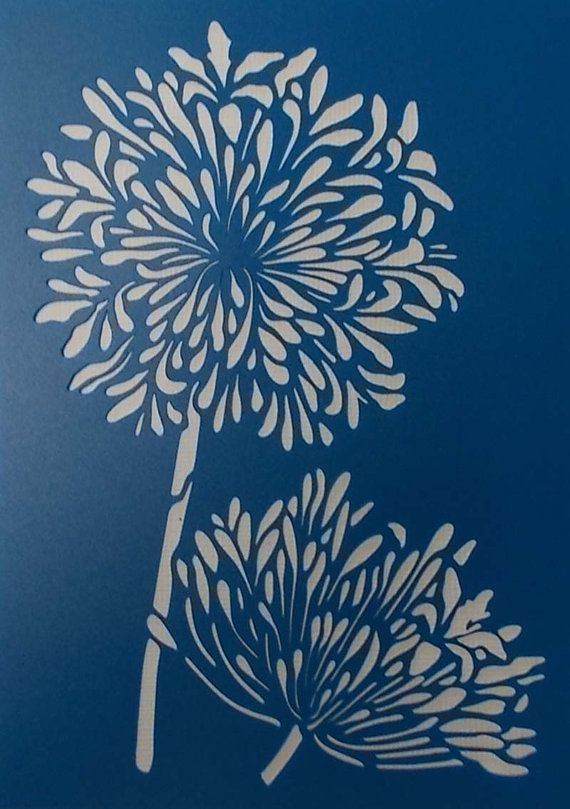 Agapantha Stencil by BettsHandmadecrafts on Etsy