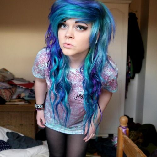 Teal Blue Purple hair - Hair - Pinterest - Blue and, Blue purple hair ...