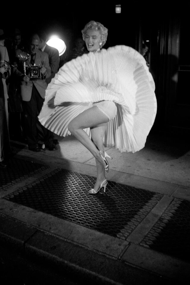 Marilyn Monroe on Seven Year Itch set