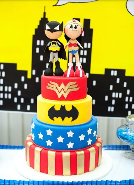 The Greatest and Cutest Superhero Duo CAKE!!!! (boy & girl)